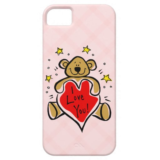 I Love You Bear iPhone 5 Case