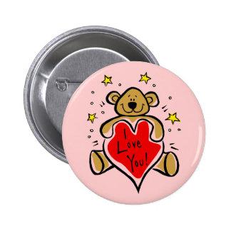 I Love You Bear Pinback Button