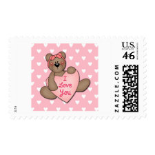 I Love You Bear Stamps
