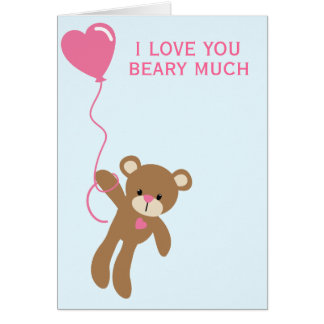 I love you beary much - Greeting Card