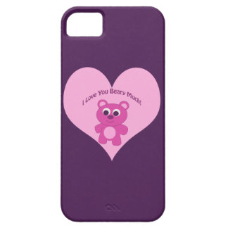 I Love You Beary Much! Pink Bear iPhone SE/5/5s Case