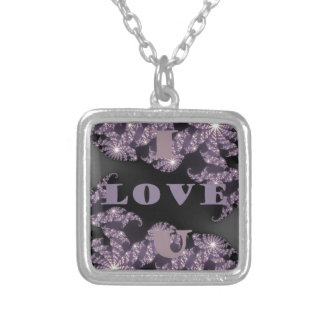 I Love You beautifully Silver Plated Necklace