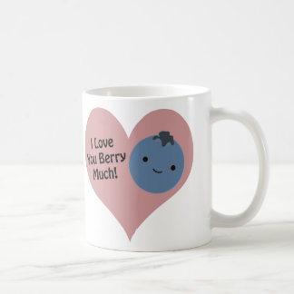 I love you berry much blueberry coffee mug