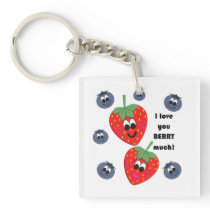 I love you BERRY much! Keychain