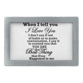 I love you, best thing ever! belt buckles