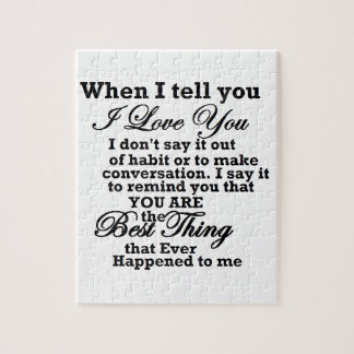 I love you, best thing ever! puzzles