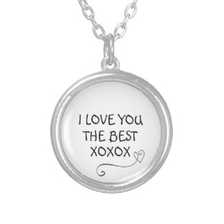 i love you best xoxox necklace