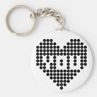 I love you (black) keychain