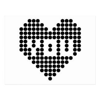 I love you (black) postcard