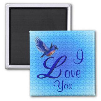 I Love You Bluebird Romantic Magnet