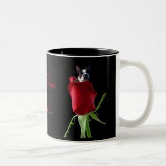 I love you Boston terrier mug