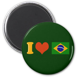 I love you Brazil Magnet