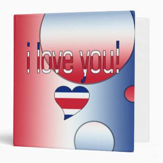 I Love You! Britain Flag Colors Pop Art Binder