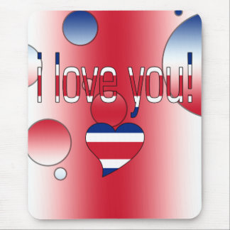 I Love You! Britain Flag Colors Pop Art Mouse Pad