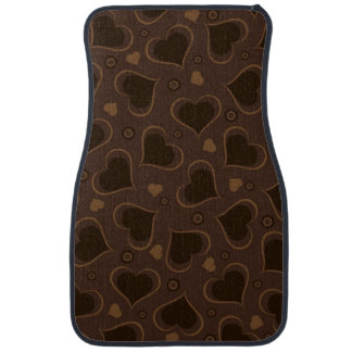 I Love You Brown Chocolate Hearts Car Mat