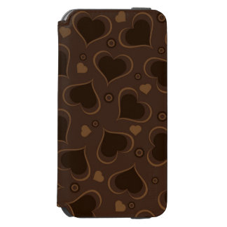 I Love You Brown Chocolate Hearts iPhone 6/6s Wallet Case