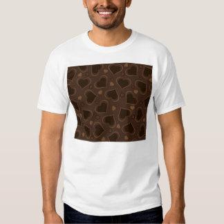 I Love You Brown Chocolate Hearts T-Shirt