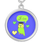 I Love You Budgie Necklaces