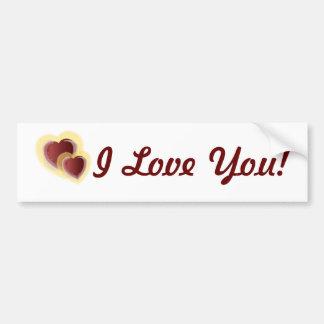 I Love You! Bumper Sticker-Customize Bumper Sticker