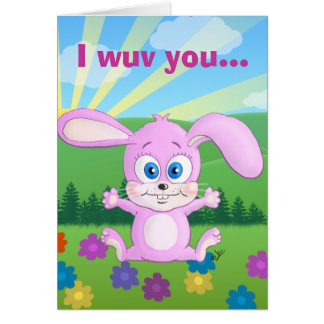 I love you bunches and bunches - Huggy Bunny card