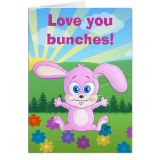 I love you bunches - Huggy Bunny card