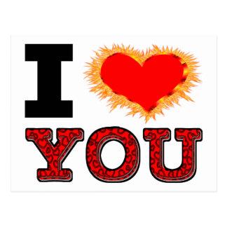 I Love You Burning Desire Postcard