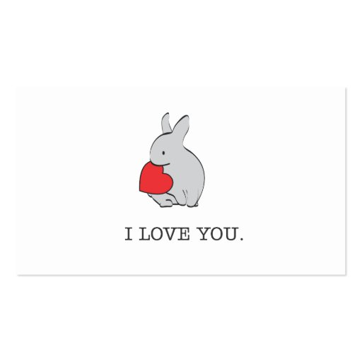 I LOVE YOU Double-Sided STANDARD BUSINESS CARDS (Pack OF 100)