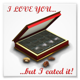 I love you, but I eated it! Photograph