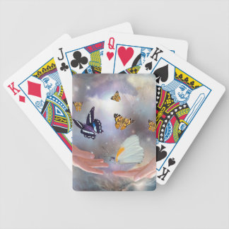I love you butterflies fantasy bicycle playing cards