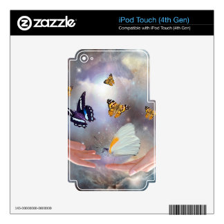I love you butterflies skin decal for iPod touch 4G