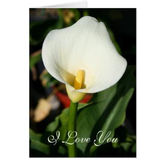 I Love You Cala lily greeting card