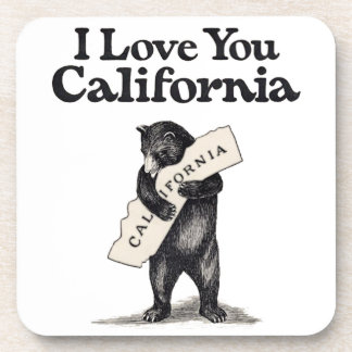 I Love You California Bear Hug Beverage Coaster