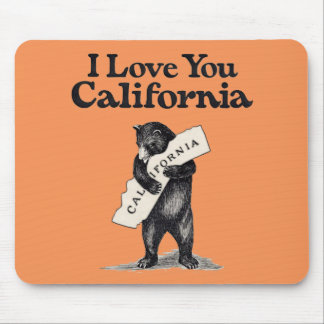 I Love You California Bear Hug Mouse Pad