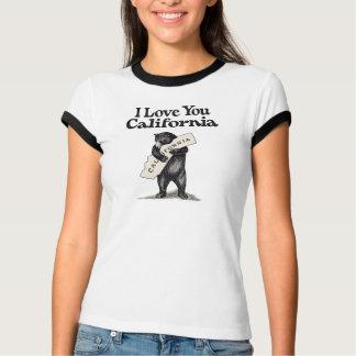 I Love You California Bear Hug T-shirt