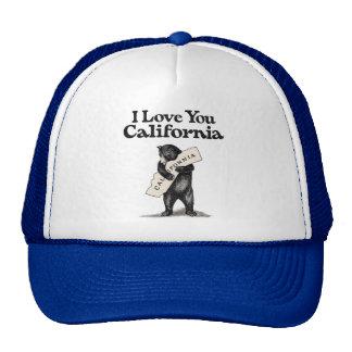 I Love You California Bear Hug Trucker Hat