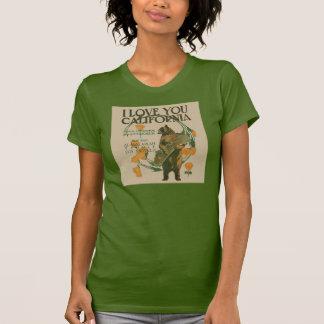 I Love You California Bear T-Shirt