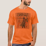 I Love You California Bear T-Shirt mens