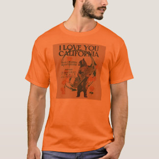 I Love You California Bear T-Shirt mens