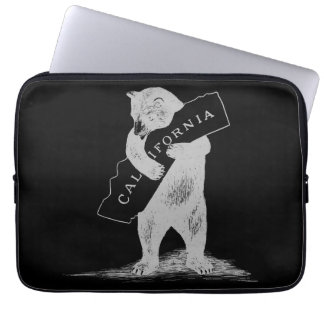 I Love You California--Black and Silver Laptop Computer Sleeve