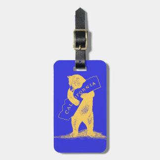 I Love You California--Blue and Gold Bag Tag