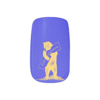 I Love You California--Blue and Gold Minx Nail Wraps