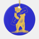 I Love You California--Blue and Gold Ornament