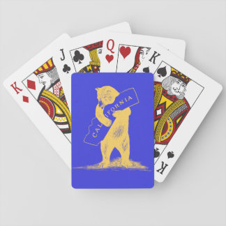 I Love You California--Blue and Gold Playing Cards