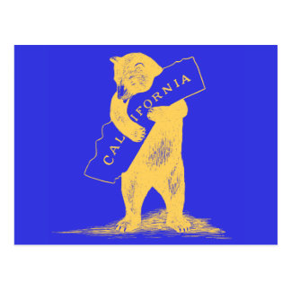 I Love You California--Blue and Gold Postcard