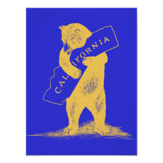 I Love You California--Blue and Gold Poster