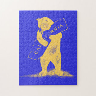 I Love You California--Blue and Gold Jigsaw Puzzles