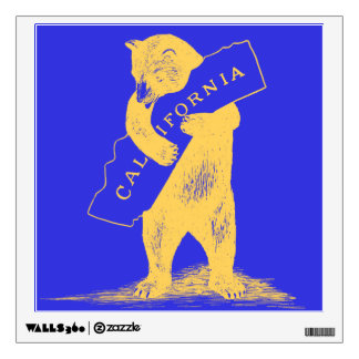 I Love You California--Blue and Gold Wall Sticker