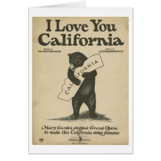 I Love You California Card