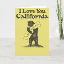 I Love You California Card