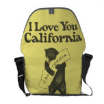 I Love You California Courier Bags